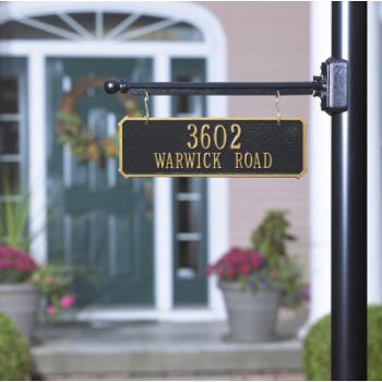 Whitehall Two-Sided 2-line Hanging Rectangle Address Plaque