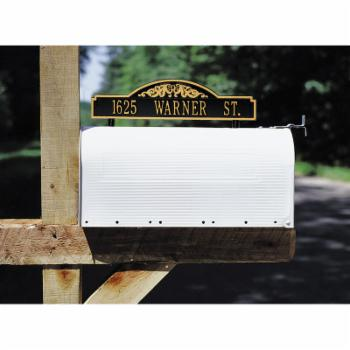 Whitehall Double Sided 1-line Scroll Marker Mailbox Mount