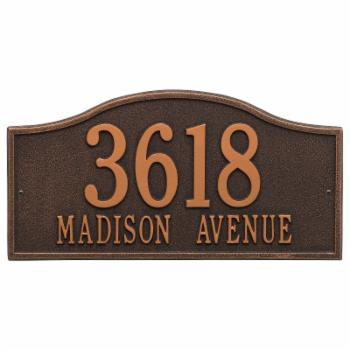 Whitehall Rolling Hills 2-line Personalized Address Plaque
