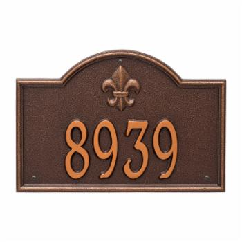 Whitehall Bayou Vista 1-line Personalized Address Plaque