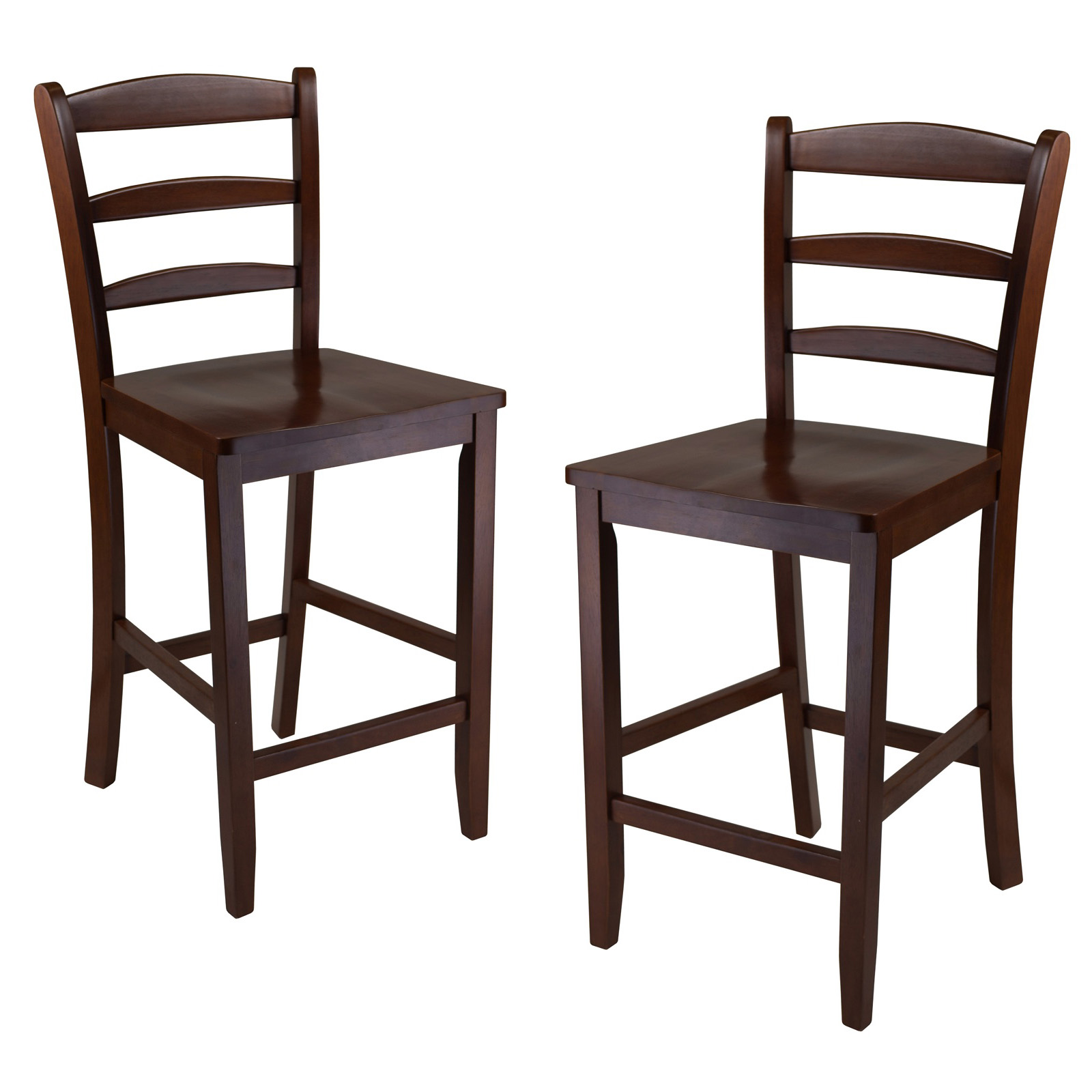 Winsome 24 In Counter Ladder Back Stool Set Of 2 Hayneedle
