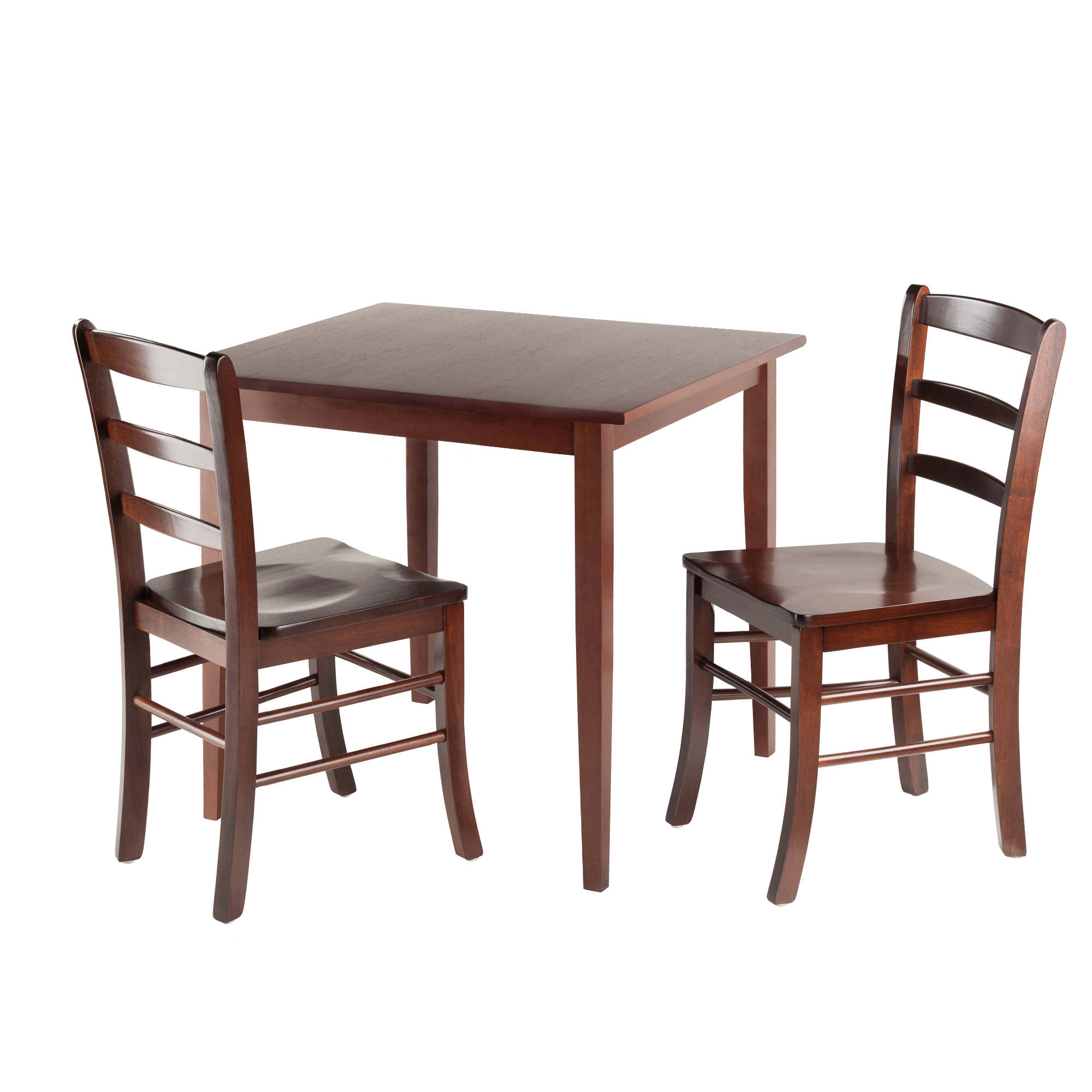 Winsome Groveland 3 Piece Small Dining Set   Antique Walnut | Hayneedle