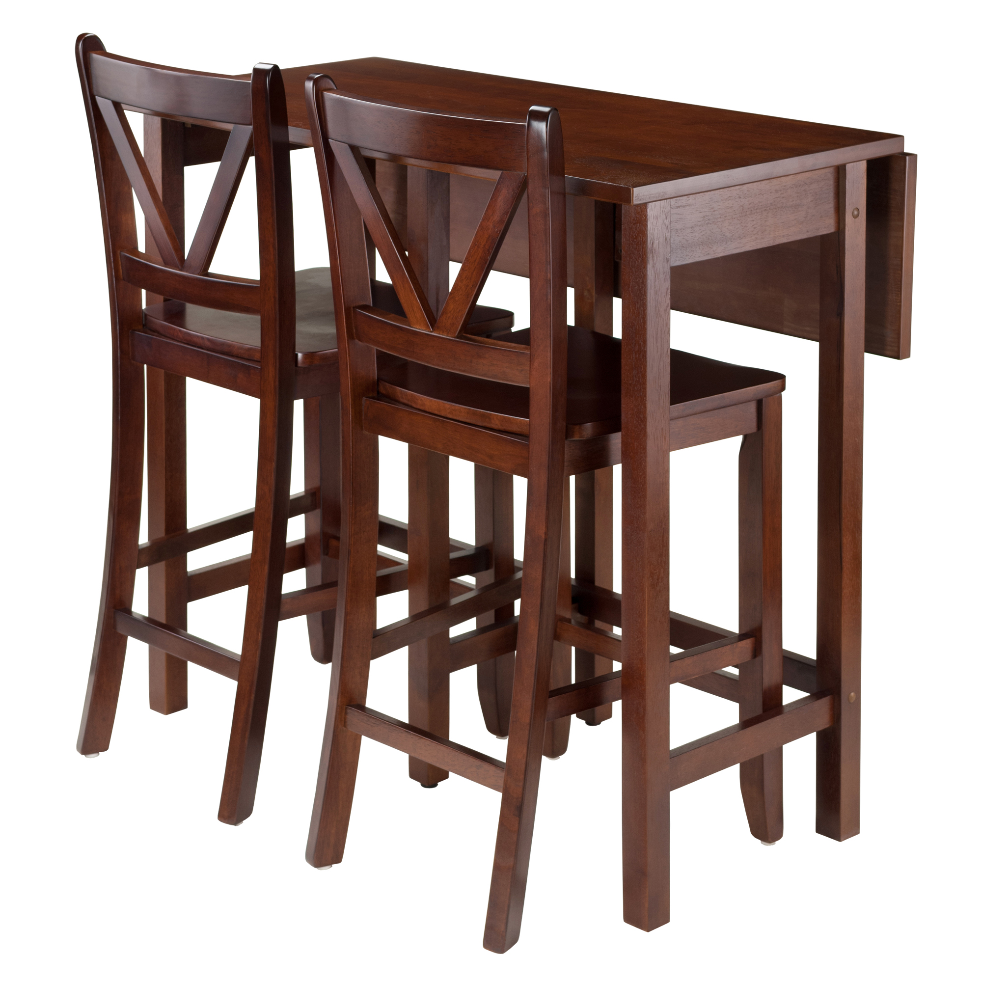 Winsome Trading Lynnwood 3 Piece Counter Height Dining Table Set | Hayneedle