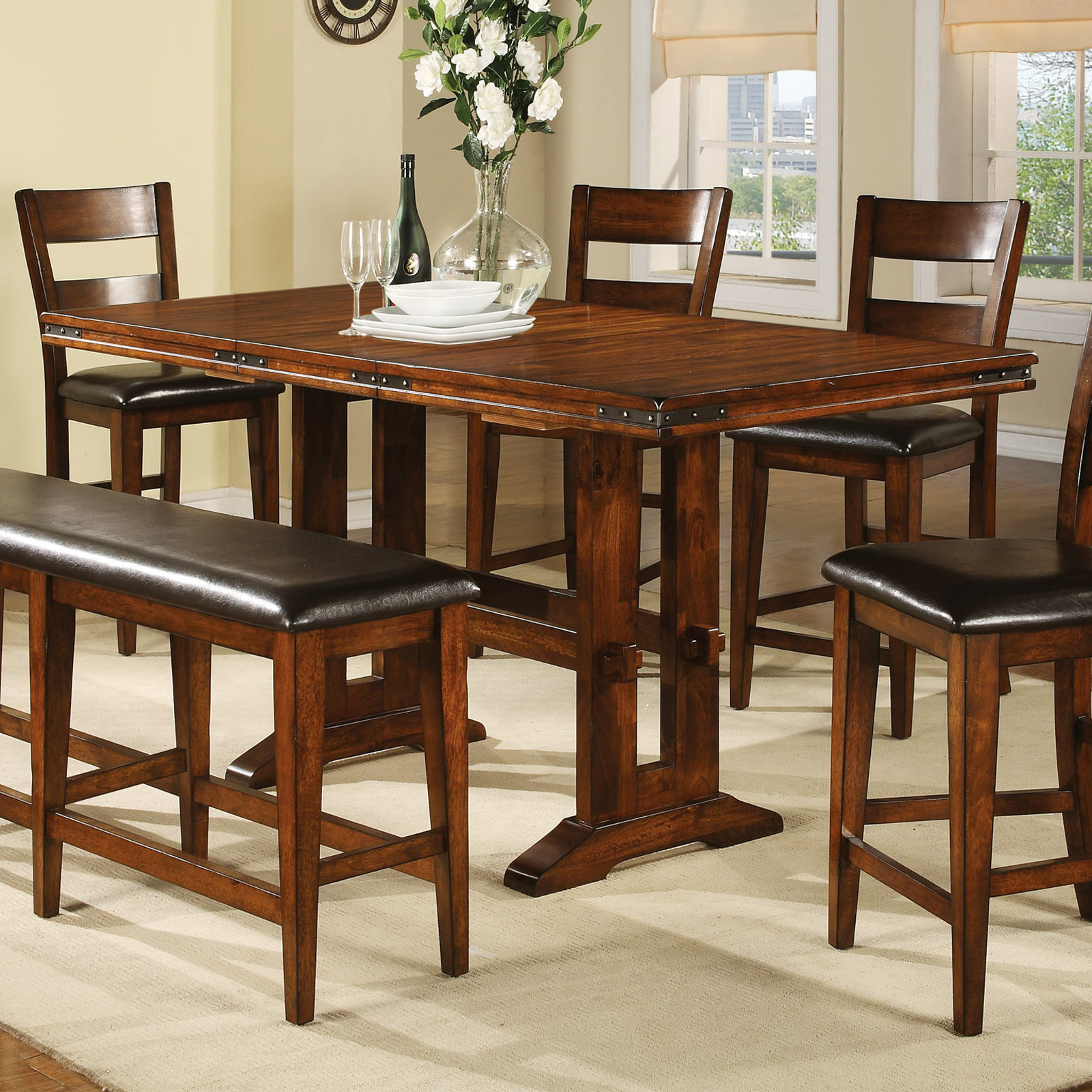 Winners Only Mango Counter Height Dining Table With 18 In. Butterfly Leaf |  Hayneedle
