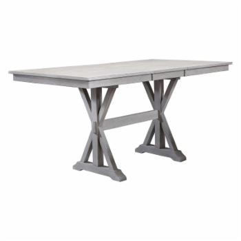 Winners Only Rectangular Counter Height Trestle Dining Table with 18 in. Butterfly Leaf