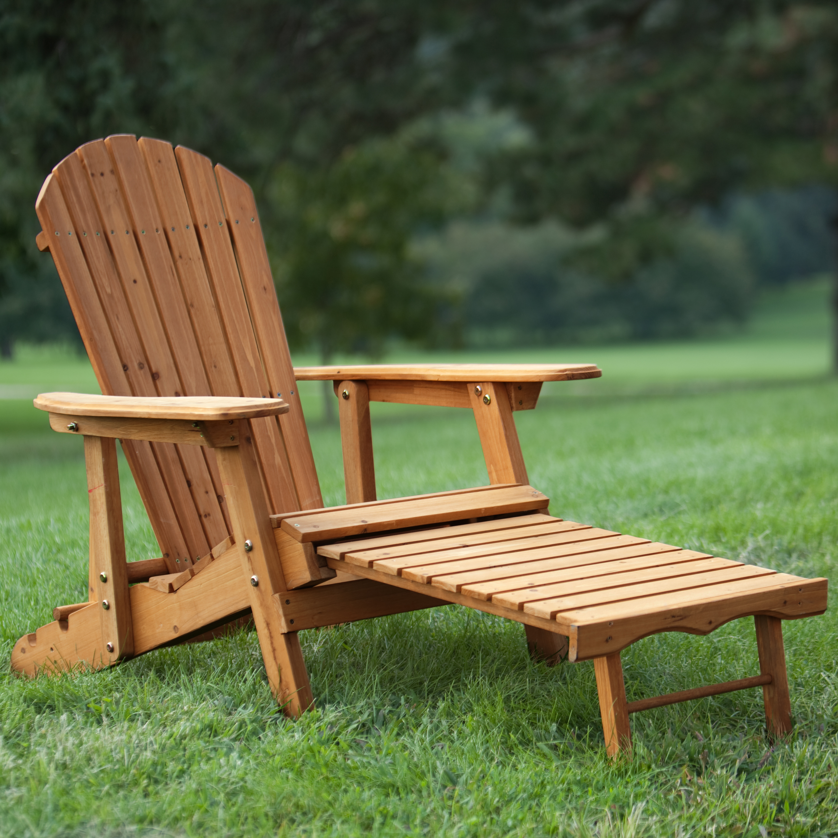 Coral Coast Big Daddy Reclining Tall Wood Adirondack Chair with – Reclining Chairs with Ottomans