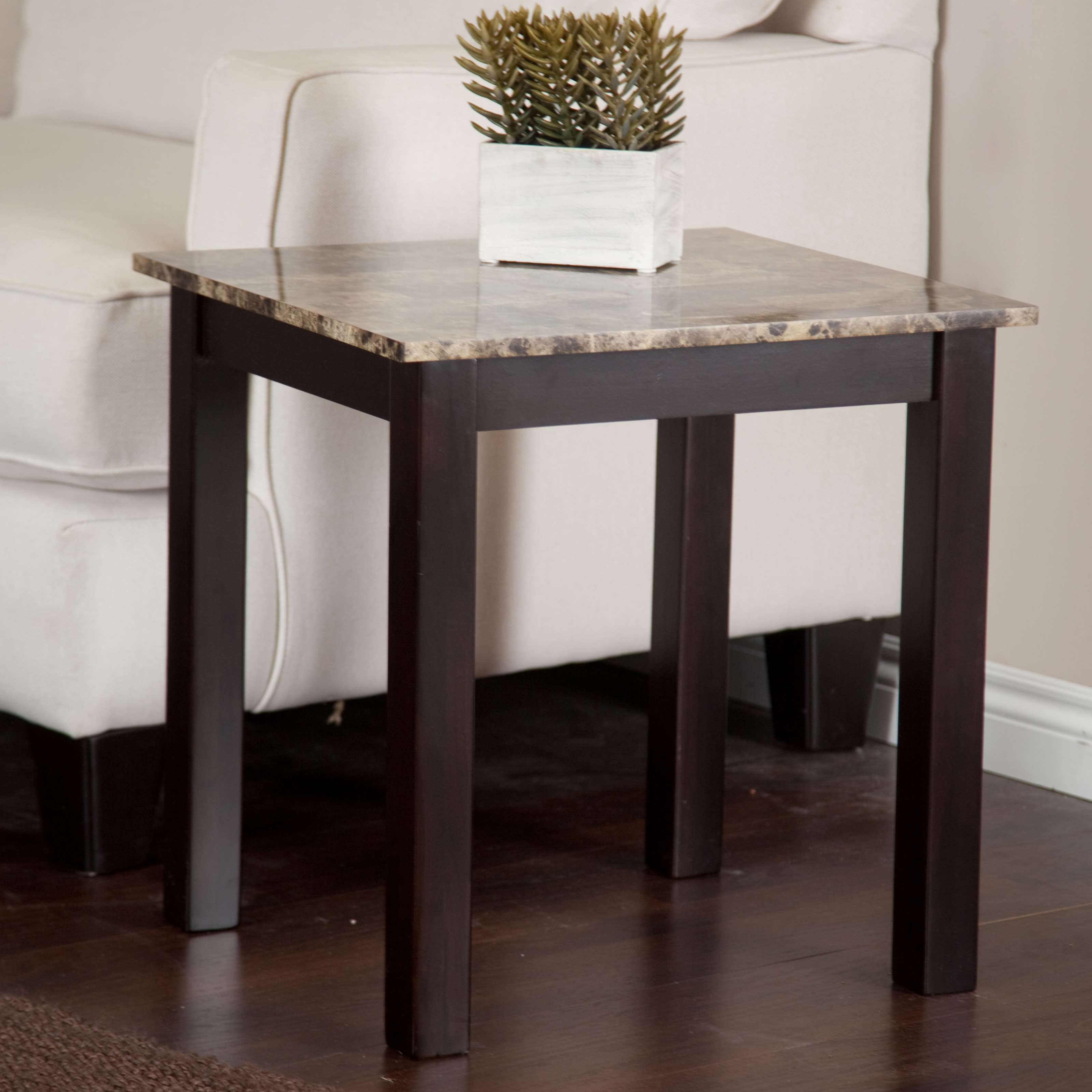 Ordinaire Palazzo Faux Marble End Table