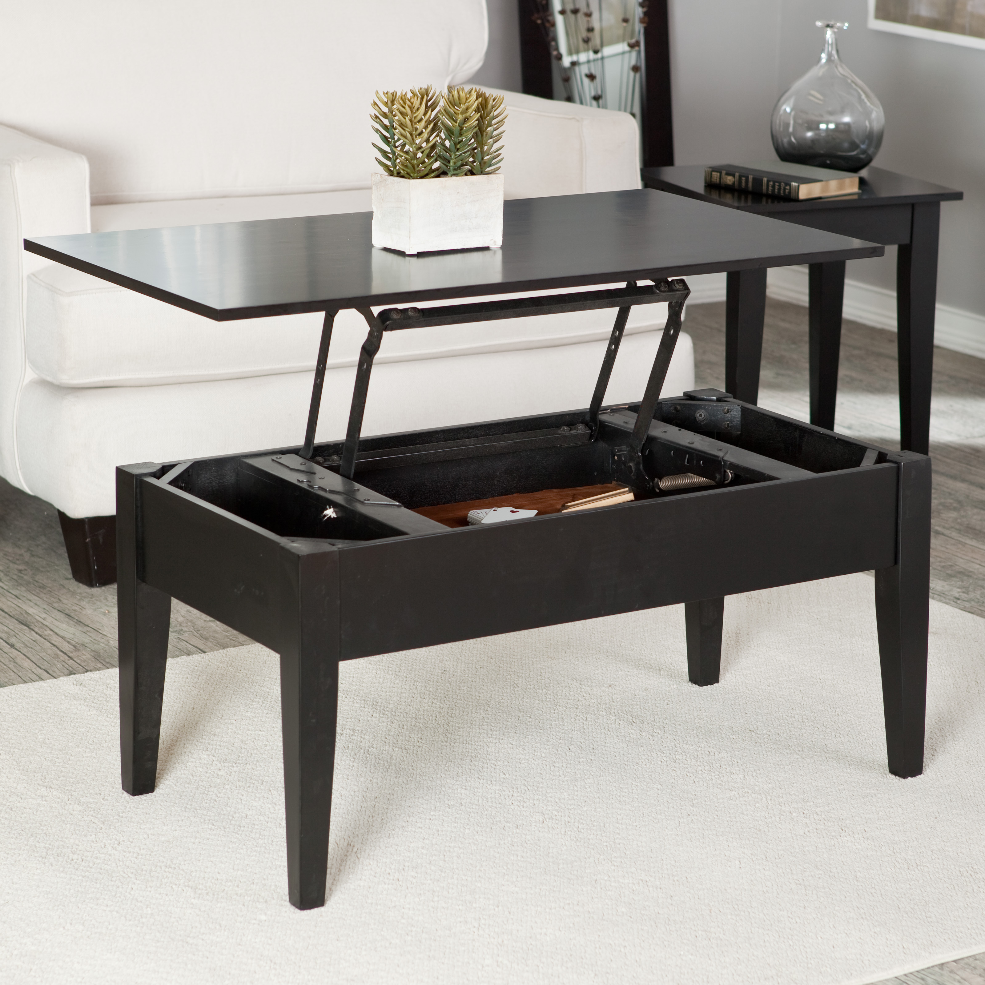 Turner Lift Top Coffee Table Black