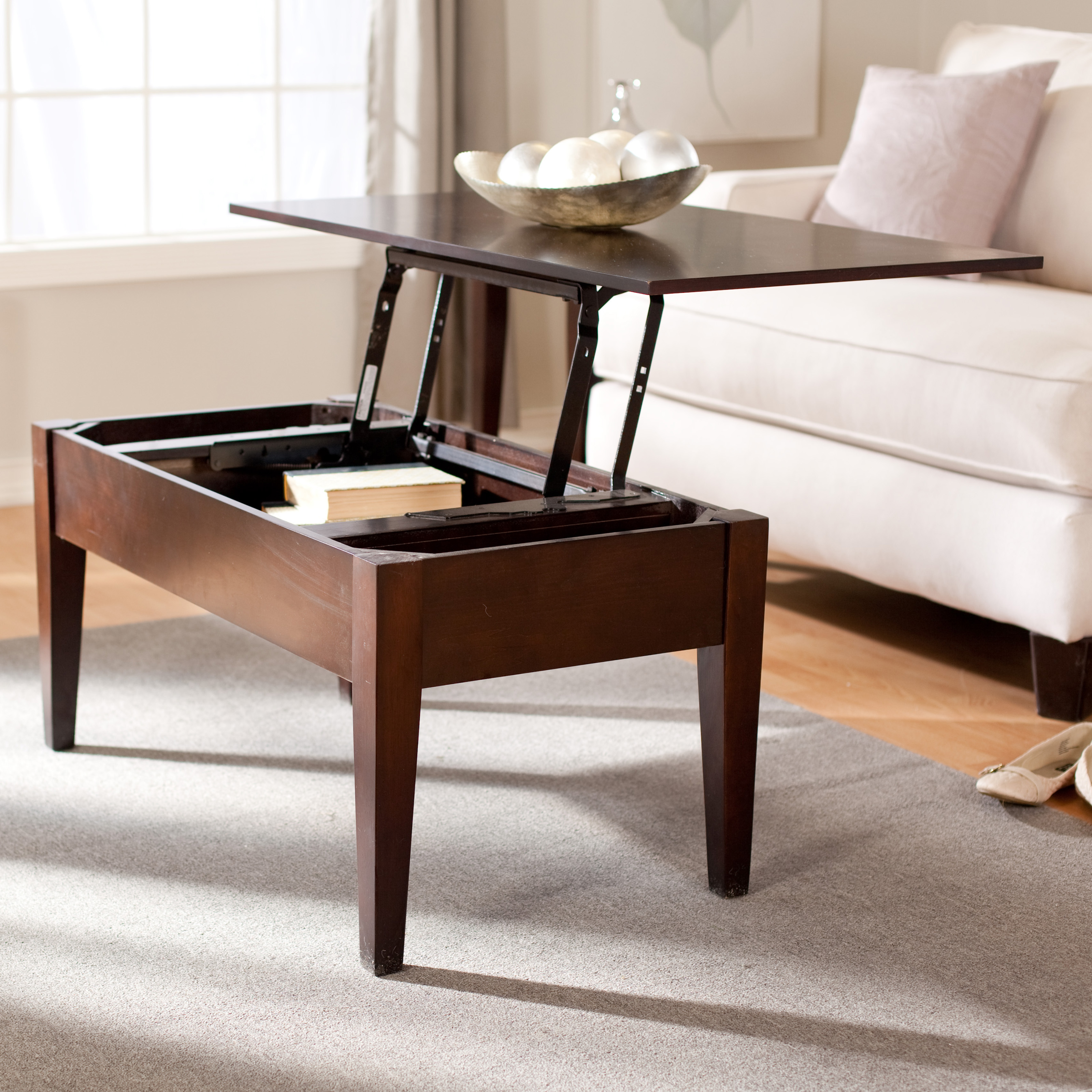 Turner Lift Top Coffee Table   Espresso