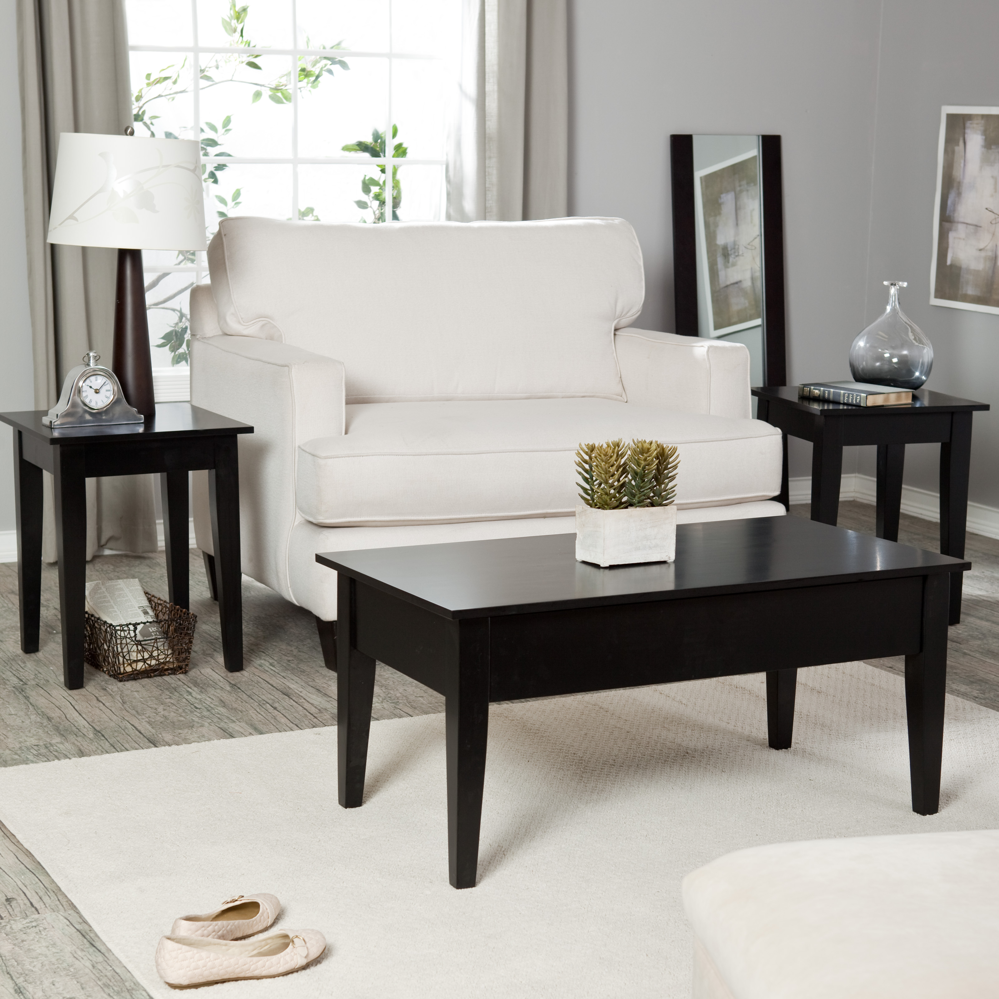 Elegant Monarch Specialties I 3 Piece Square Table Set