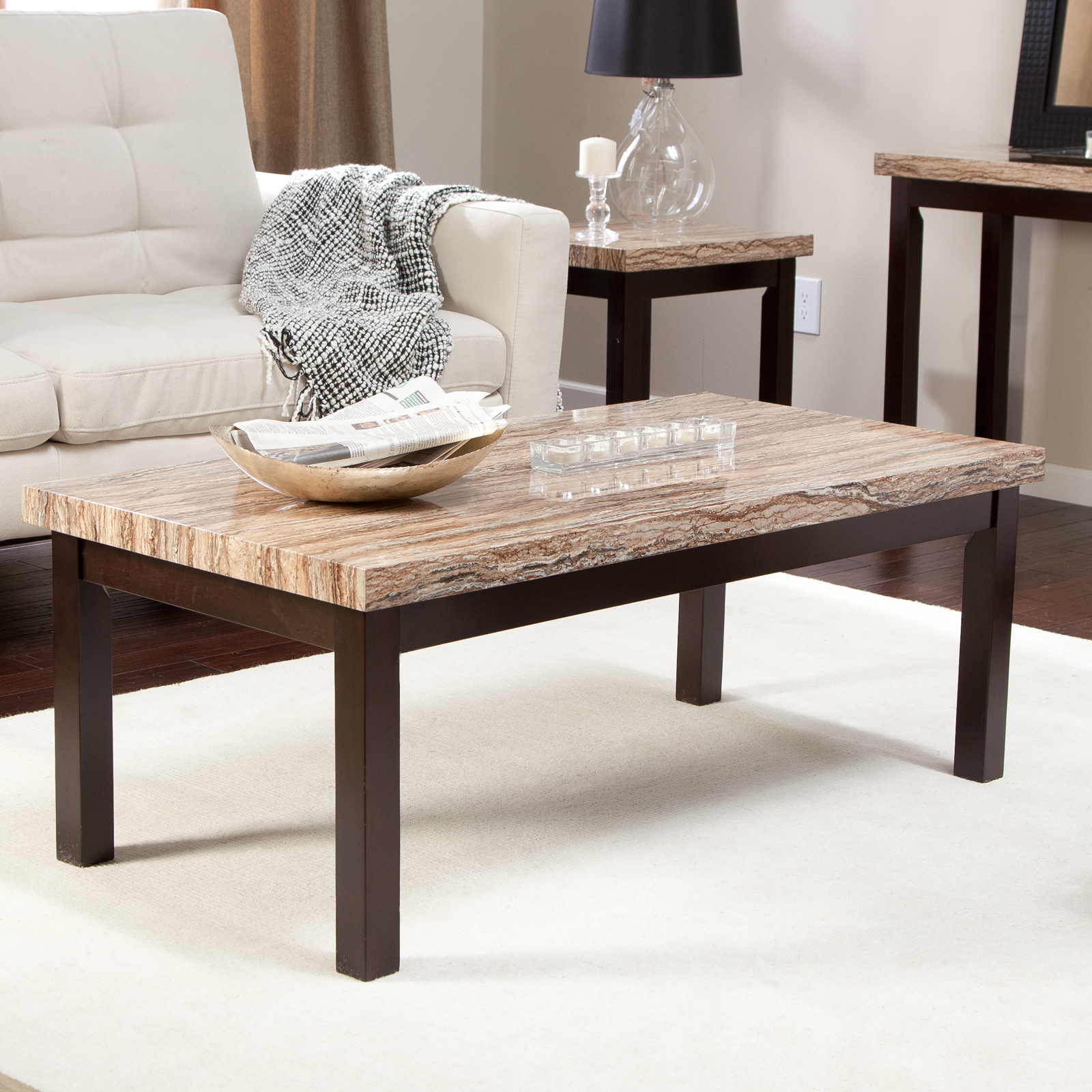 Carmine Faux Marble Coffee Table