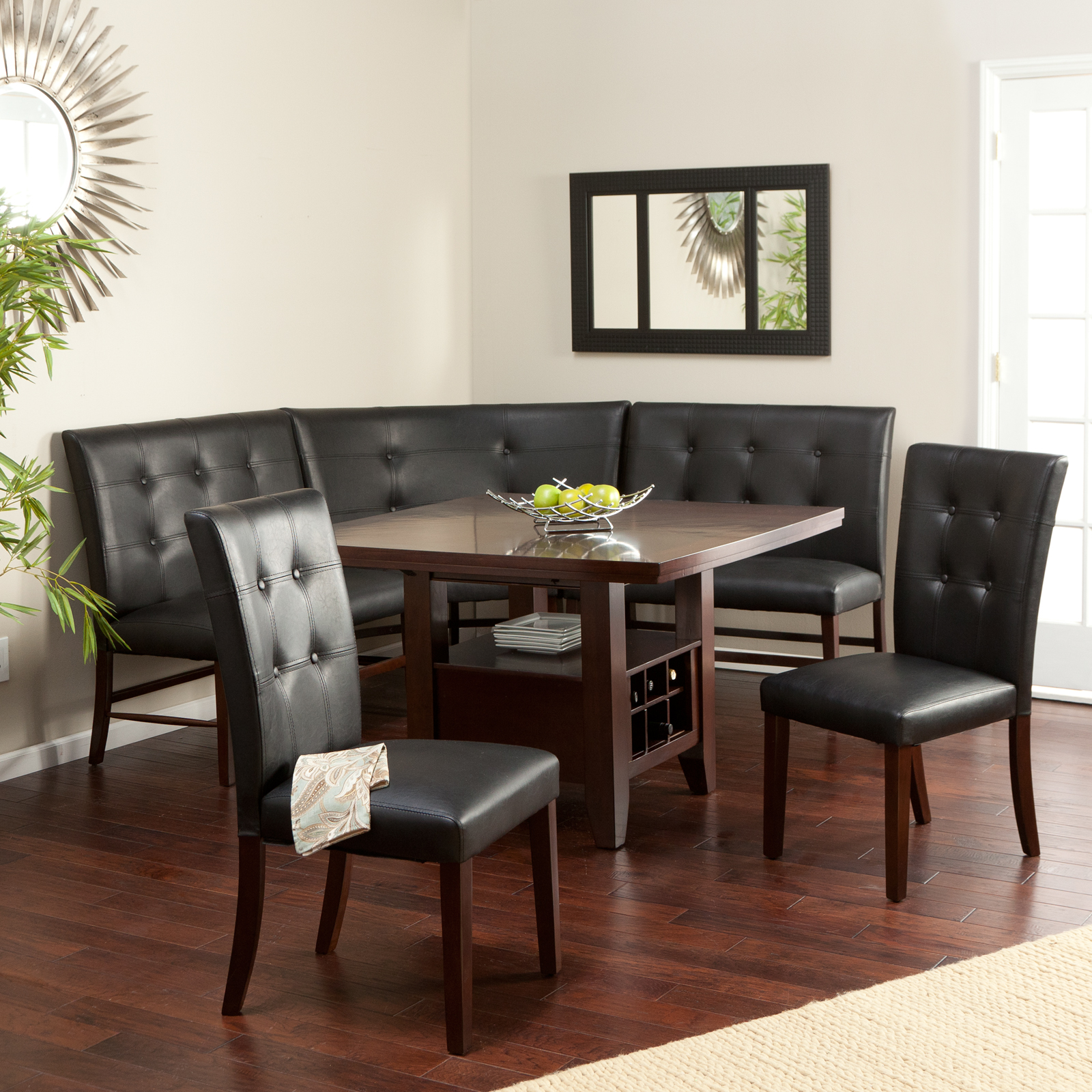 Charmant Layton Espresso 6 Piece Breakfast Nook Set