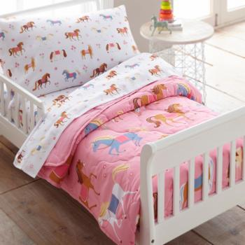 Horses 4 Piece Toddler Bed in a Bag by Olive Kids
