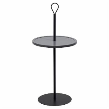 Worldwide Home Furnishings Round Pedestal Accent Table with Handle