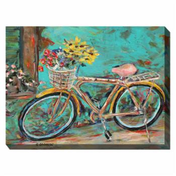 West of the Wind Teal Bicycle Wall Art - 40W x 30H in.