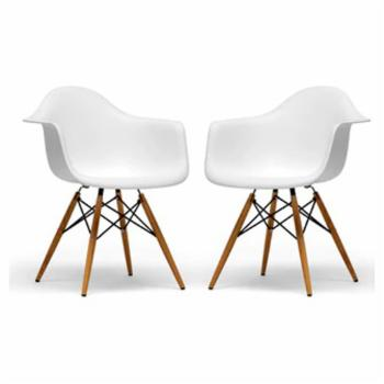 Baxton Studio Set of 2 Pascal Shell Dining Chair