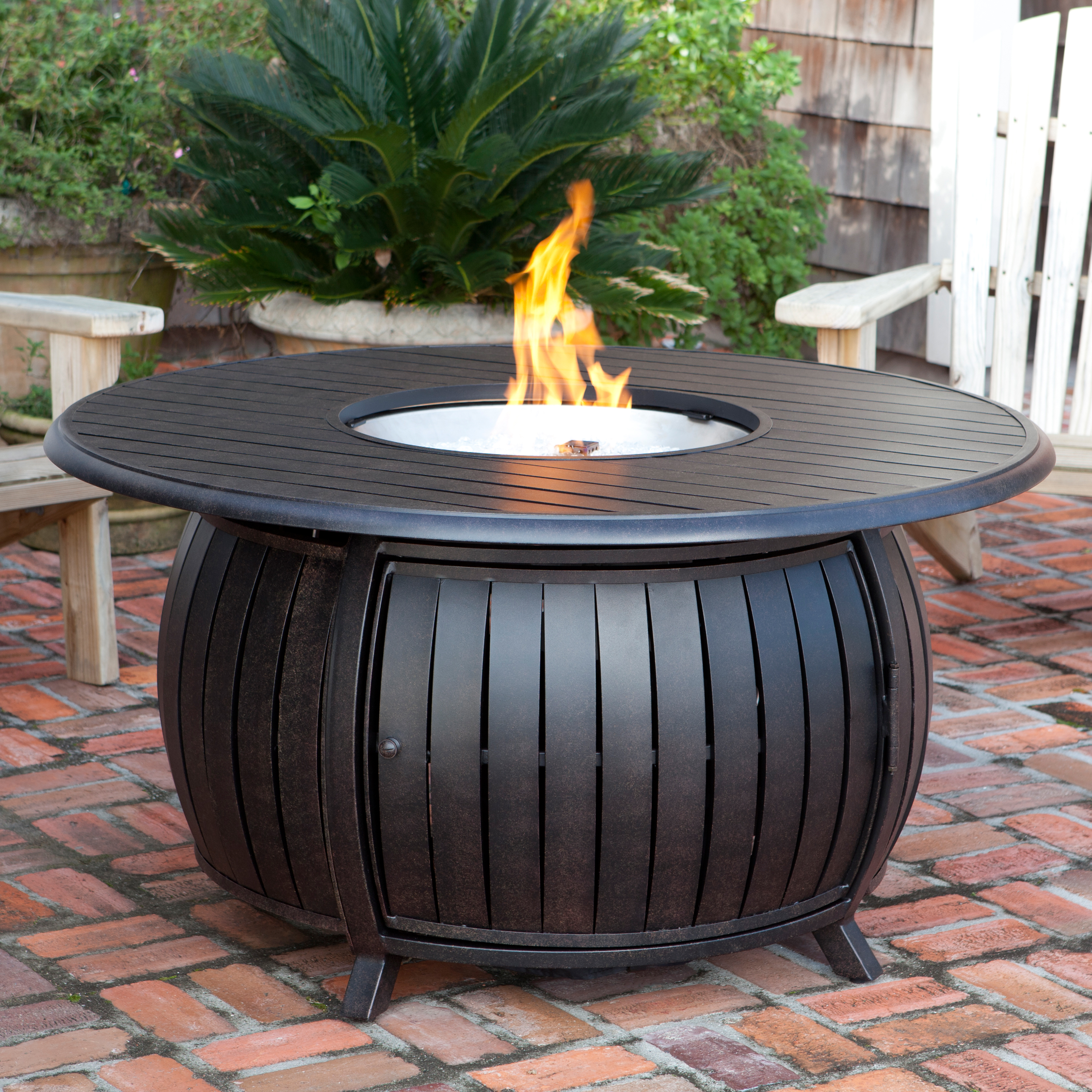 Fire Sense Round Fire Pit Table with Cover