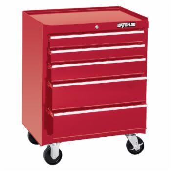 Waterloo 26 in. Red 5 Drawer Cabinet