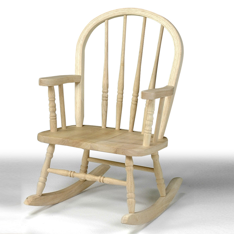 Wonderful International Concepts Windsor Childrens Rocking Chair   Unfinished |  Hayneedle