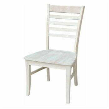 International Concepts Unfinished Roma Ladder Back Dining Chairs - Set of 2