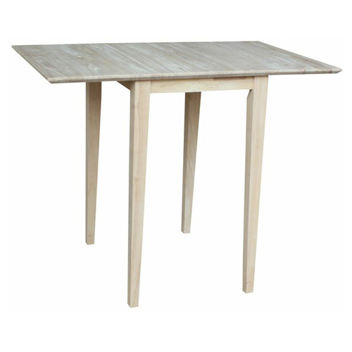 Etonnant International Concepts Unfinished Bardwell Small Drop Leaf Dining Table