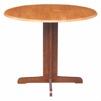 International Concepts 36 in. Round Dual Drop Leaf Dining Table