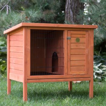 Boomer & George Elevated Outdoor Rabbit Hutch - Natural