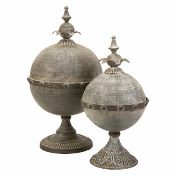 IMAX Decorative Lidded Sphere - Set of 2