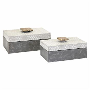 Imax Parker Metal Boxes - Set of 2