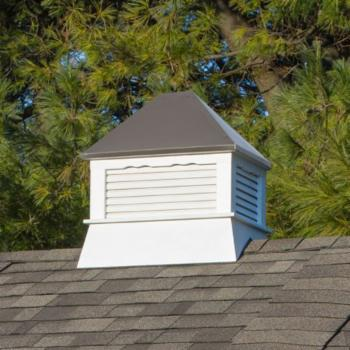 Yardcraft Products LLC Rectangle Vinyl Cupola with Bronze Metal Roof
