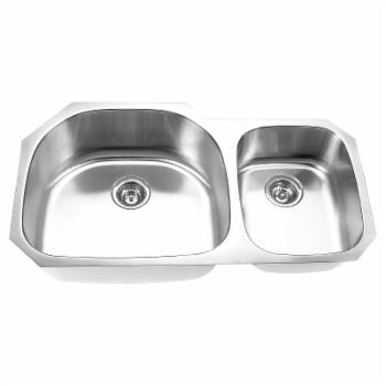 Yosemite MAG3720 Double Basin Undermount Kitchen Sink