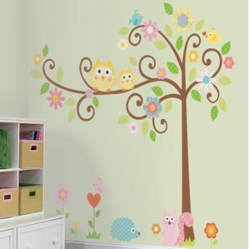 Scroll Tree Peel and Stick MegaPack Wall Decals