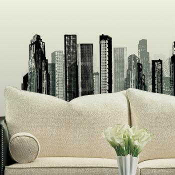 Cityscape Peel and Stick Giant Wall Decal - 38W x 17H inches