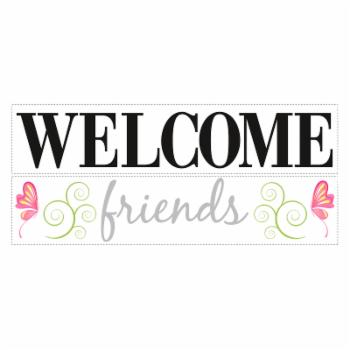 Welcome Friends Peel and Stick Wall Decals