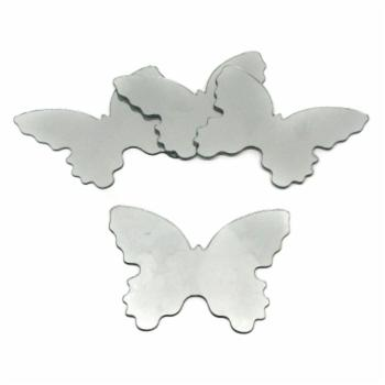 Butterfly Peel and Stick Mirror - Set of 4