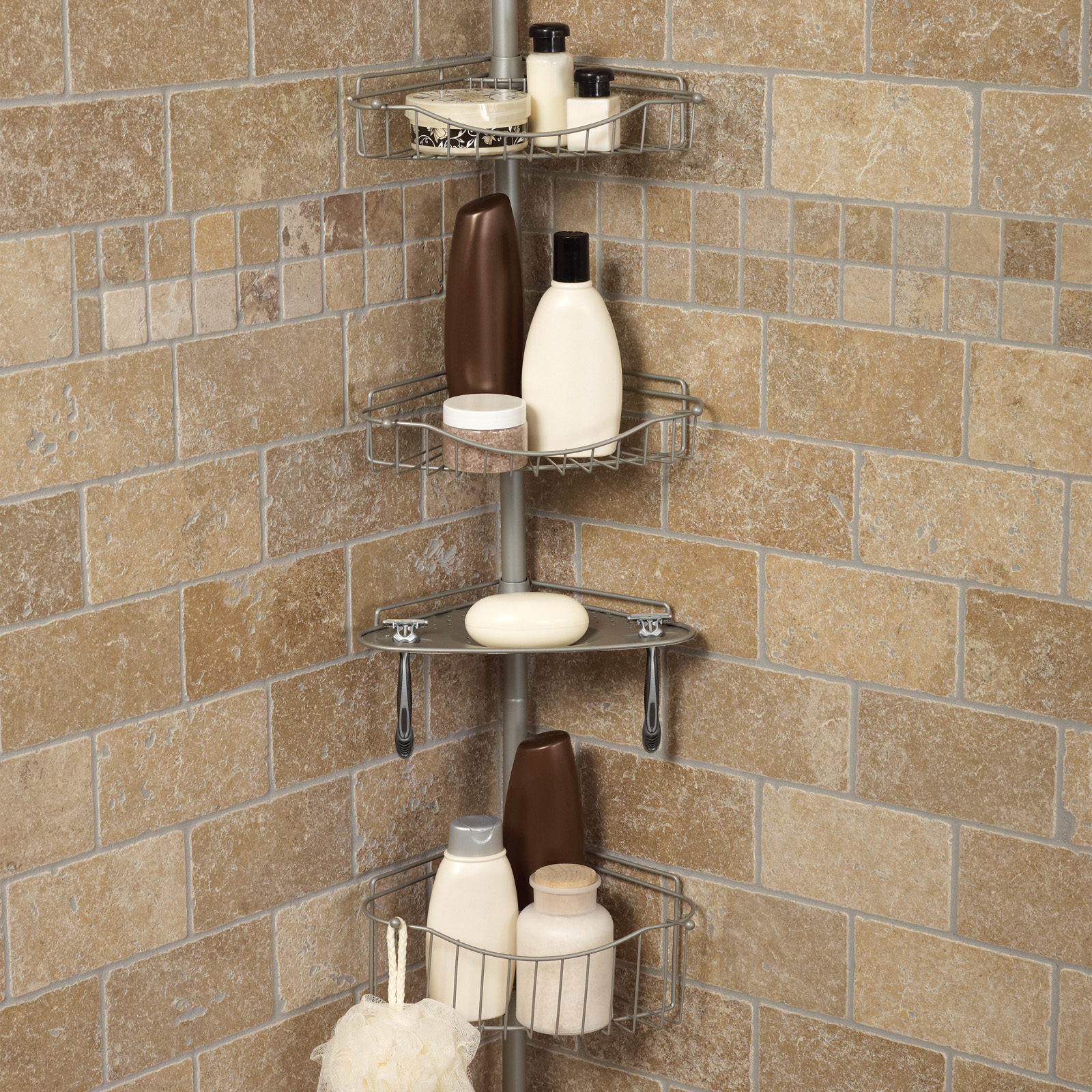 shower bath caddies hayneedle rh hayneedle com Tension Pole Shower Caddy Walmart Tension Pole Shower Caddy Walmart
