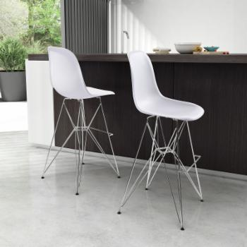 Zuo Modern Zip Bar Stool - White