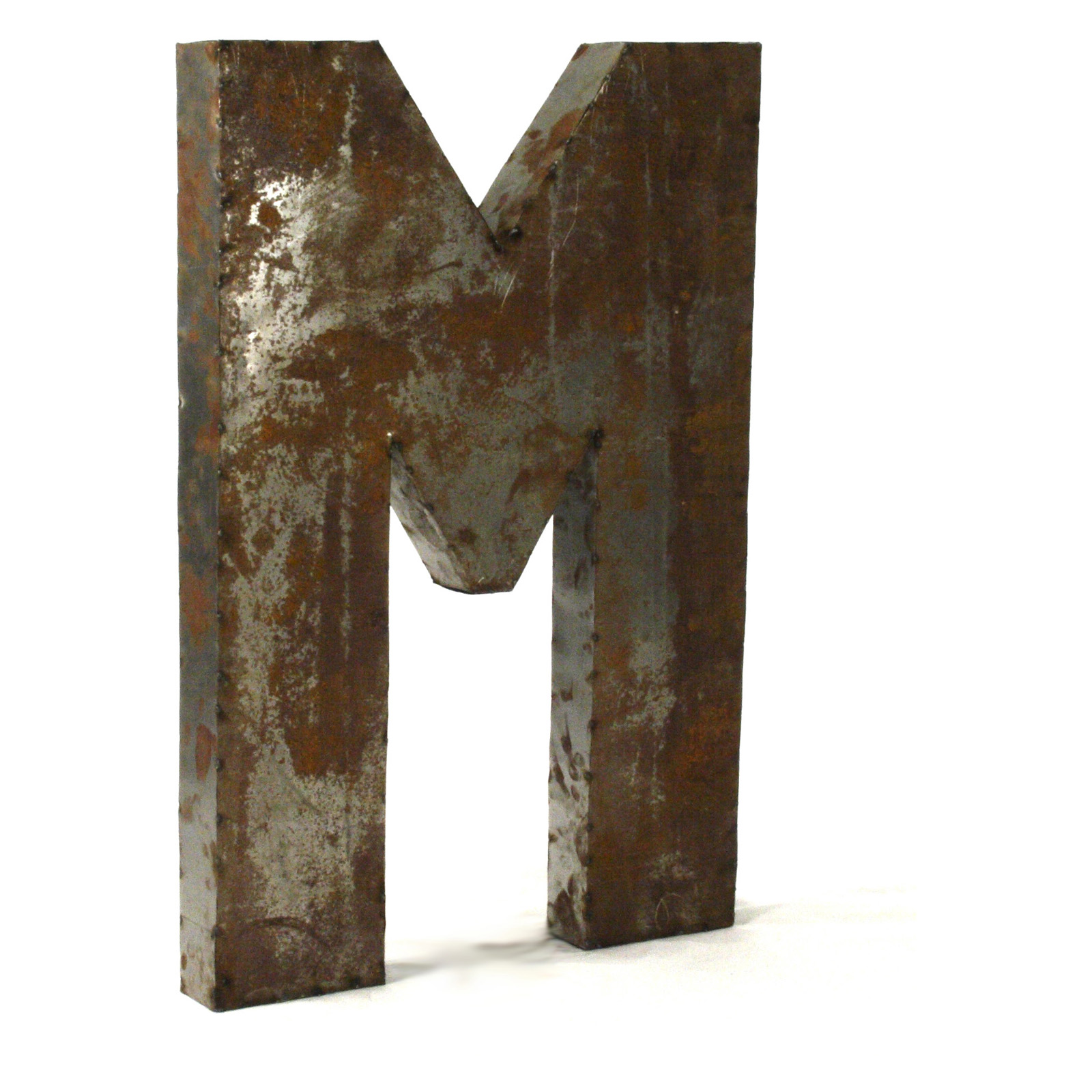 Large Metal Alphabet Letters For Wall Letter M Metal Wall Art  30W X 36H In Hayneedle