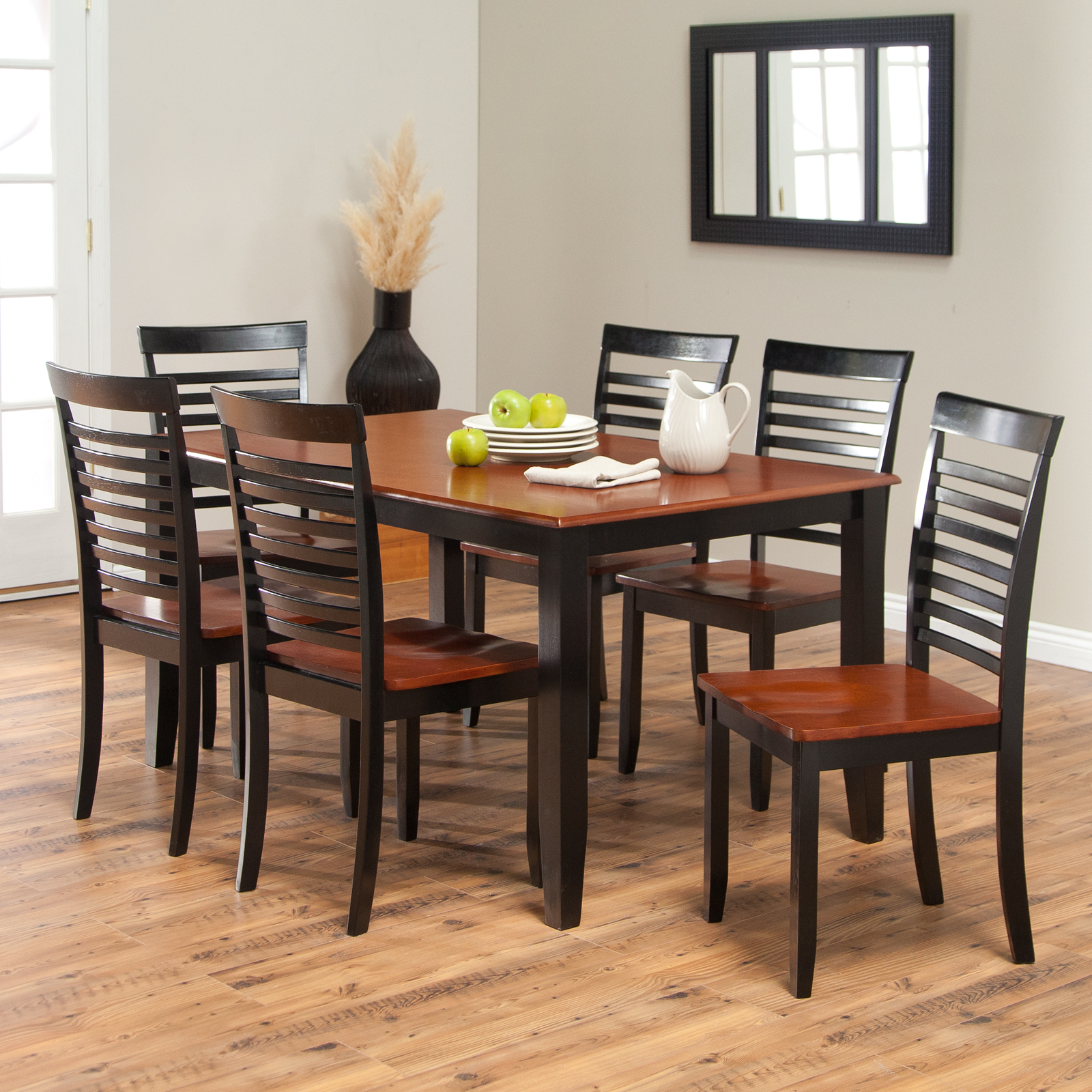 with room dining matching table black a trellischicago chairs