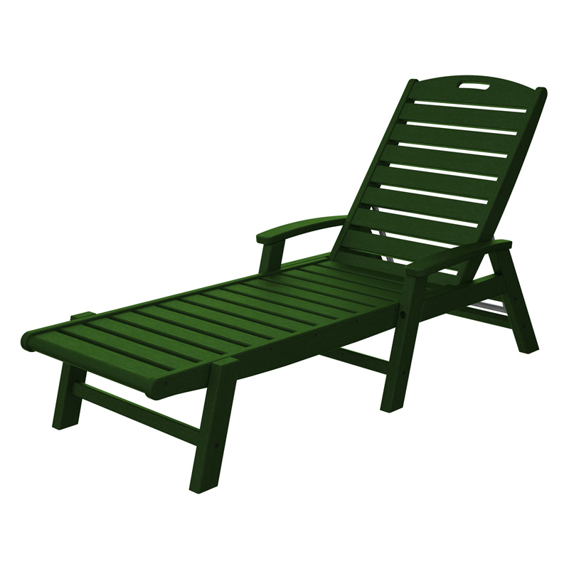 Delicieux Trex Outdoor Furniture Recycled Plastic Yacht Club Chaise With Arms    Stackable | Hayneedle